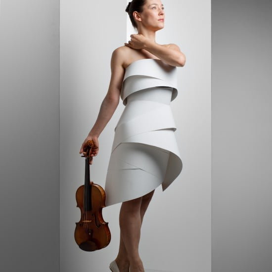 Uliana: violinist and dancer. dress desginer: Kelly Kwon