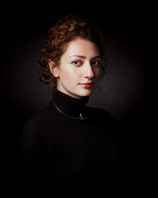 Montreal Headshot of Jewelry designer Mona Saheli