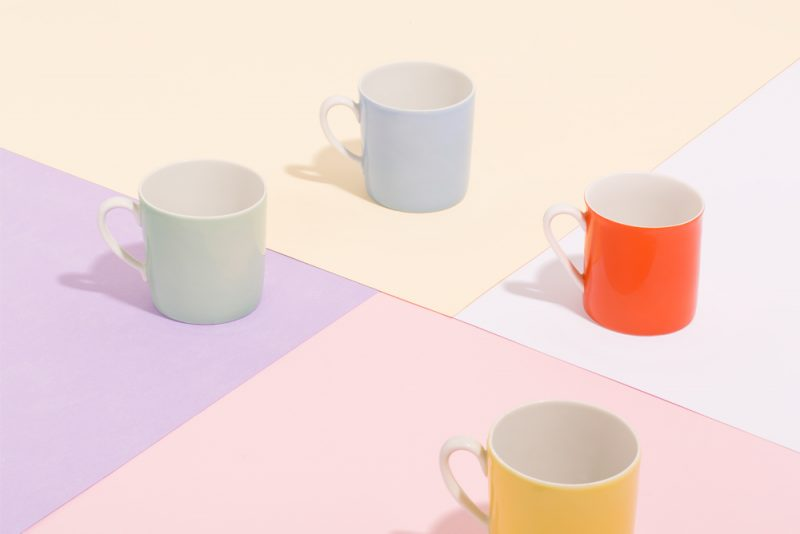 Pastel color coffe cups