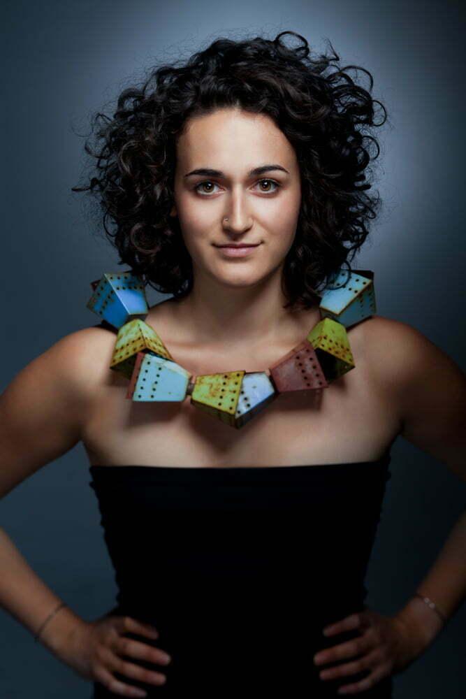 Portrait of Montreal jewelry designer Pilar Ageuci