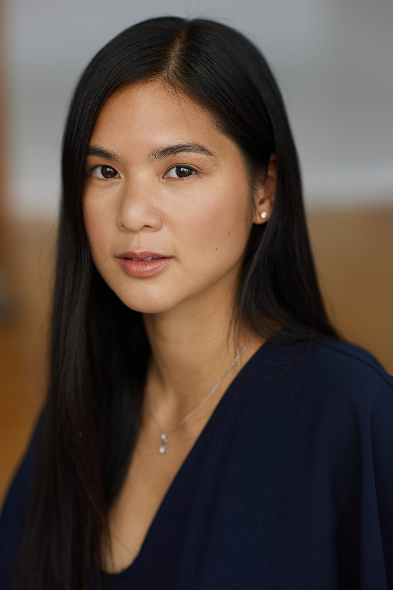 Montreal-actress-casting-headshot-casting-profile-asian-long-hair-navy-blouse-by-nadia-zheng