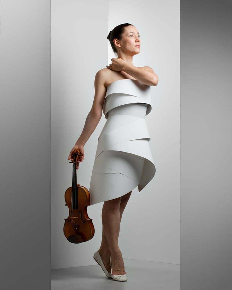 Uliana: violinist and dancer. dress desginer: Kelly Kwon
