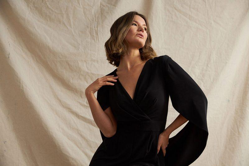 Montreal-fashion-lookbook-in-studio-canvas-backdrop-female-clothing-joseph-ribkoff